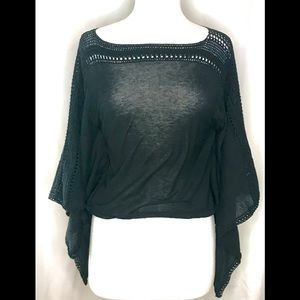 White House Black Market batwing top small
